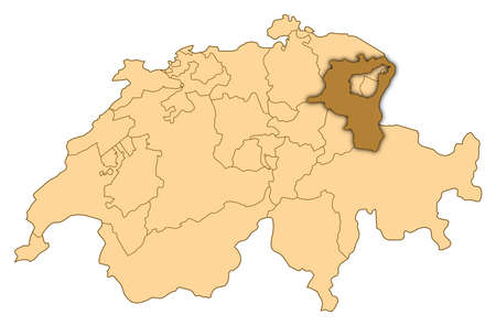 Map of Switzerland where St. Gallen is highlighted.