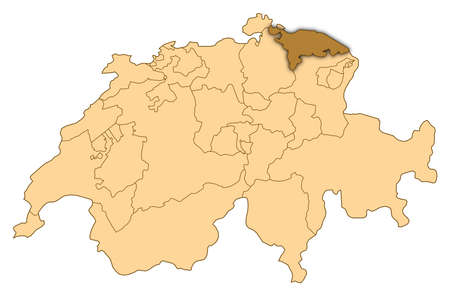 Map of Switzerland where Thurgau is highlighted.