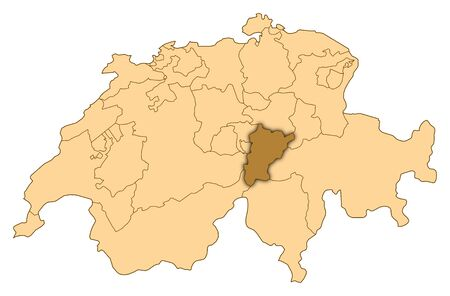 Map of Switzerland where Uri is highlighted.