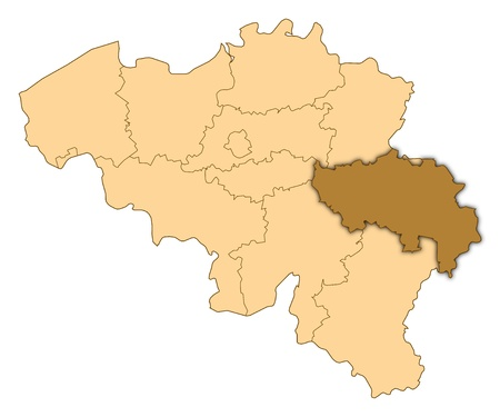 Map of Belgium where LiÚge is highlighted.