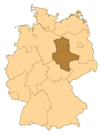 Map of Germany where Saxony-Anhalt is highlighted.