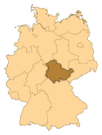 Map of Germany where Thuringia is highlighted.
