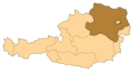 Map of Austria where Lower Austria is highlighted.