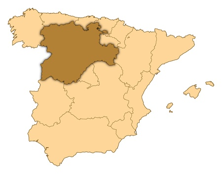 Map of Spain where Castile and León is highlighted.
