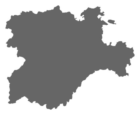 Map of Castile and Leon, a province of Spain.