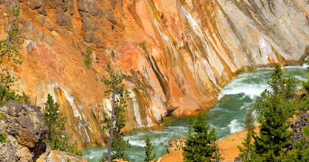 Stock image of Artist Point Grand Canyon Of Yellowstone, Yellowstone National Park, USA.