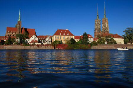 Foto für Wroclaw at Odra river with cathedral on the background. - Lizenzfreies Bild