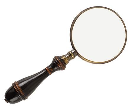 Photo pour Vintage magnifying glass isolated on white background - image libre de droit