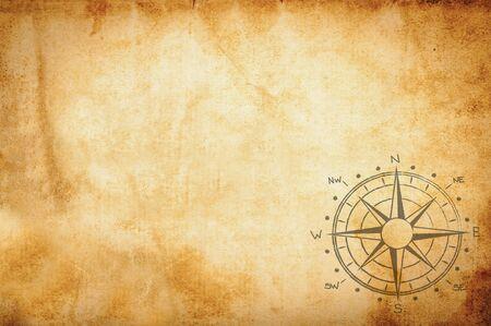 Photo pour old  vintage  parchment with compass rose - image libre de droit