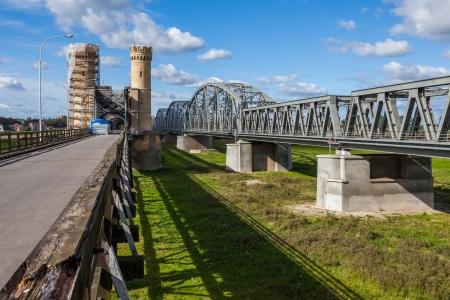 Historic bridges in Tczew - rail and road - Poland, Europe