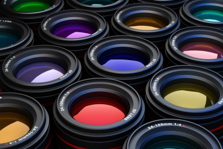Camera Lenses photography theme background