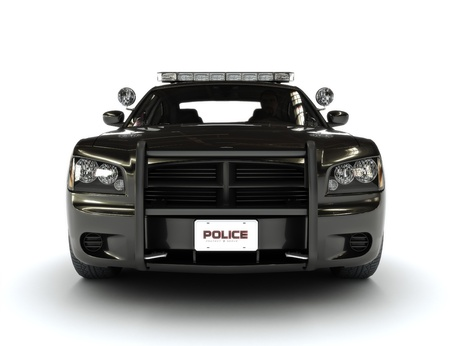 Police car on a whie background