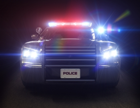 Police car cruiser ,with full array of lights and tactical lights  Part of a first responder series
