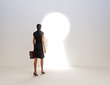 Photo pour Business female key to success concept  - image libre de droit