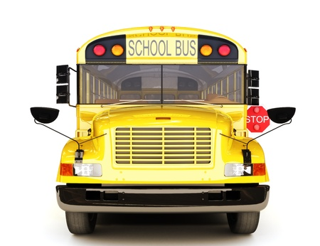 Photo for School bus front view  - Royalty Free Image