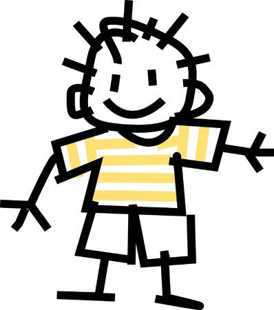 Illustration pour Boy - image libre de droit