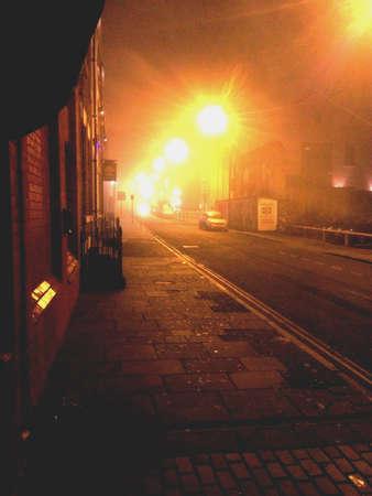 Creepy fog on Seel street, Liverpool