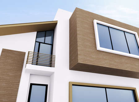 Exterior of modern private house