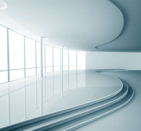 Abstract empty modern interior 3d render