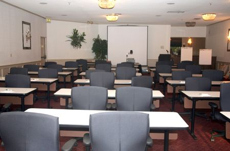 Main conference room used for presentations and schooling