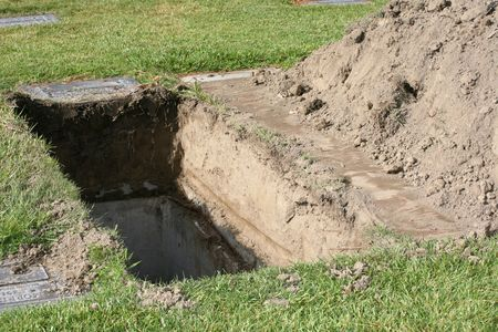 Grave already dug waiting for a body to be buried in it