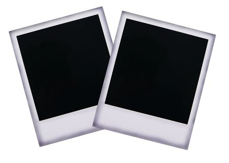 Two old photograph film blanks with shading isolated on white background