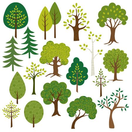 Illustration pour trees clipart - image libre de droit