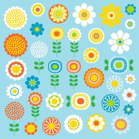 Illustration pour mod flowers - image libre de droit