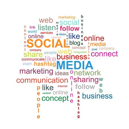 Photo for Social Media Word Cloud - Royalty Free Image