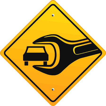 auto repair shop, sign