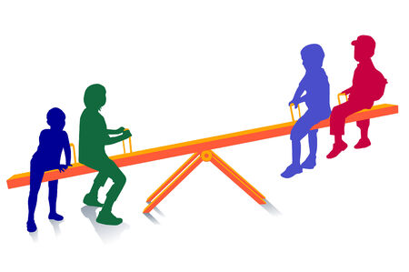 seesaw, to teeter