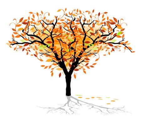 Illustration pour autumnal deciduous tree - image libre de droit