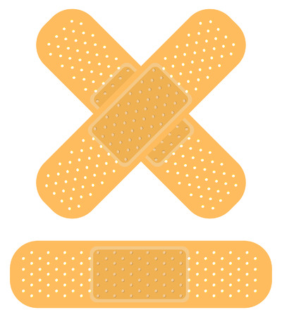 band-aid on white, apply a plaster