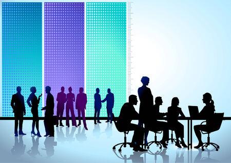 Illustration pour round table conference - image libre de droit