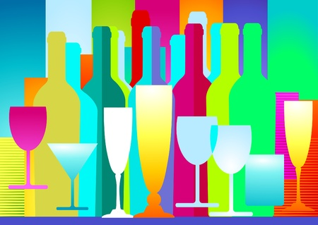 Colorful Drinks Wall Mural