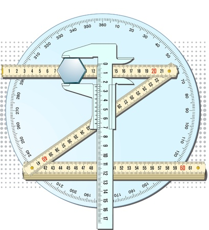 calipers and measured