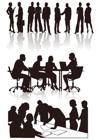 Vektor für People in the office - Lizenzfreies Bild