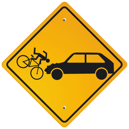 Caution cyclists