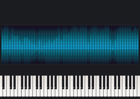 Piano with equalizer
