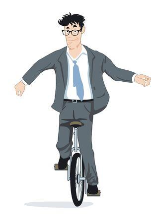 Balance on a unicycle