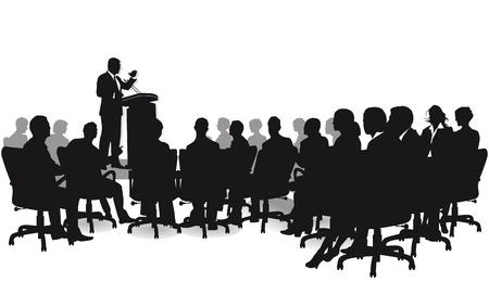 Vektor für strategy talk - Lizenzfreies Bild