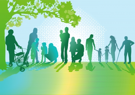 Illustration for Generations of Families - Royalty Free Image