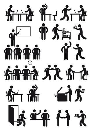Ilustración de Office workstation and business - Imagen libre de derechos
