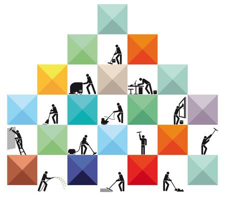 Illustration pour House Cleaners  - image libre de droit