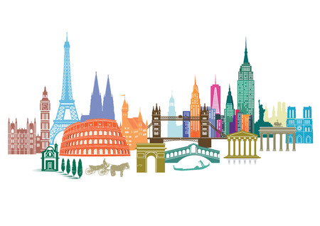 Illustration for Travel Landmark - Royalty Free Image