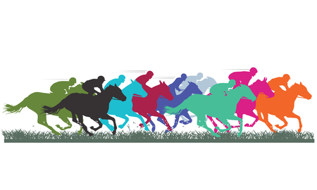 Ilustración de Thoroughbred Racing - Imagen libre de derechos