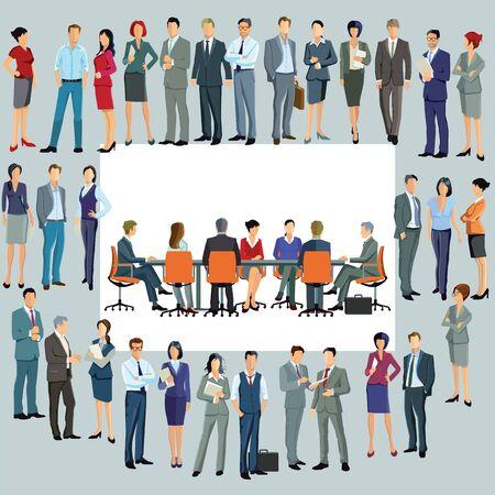 Illustration pour Business plan new employees - image libre de droit
