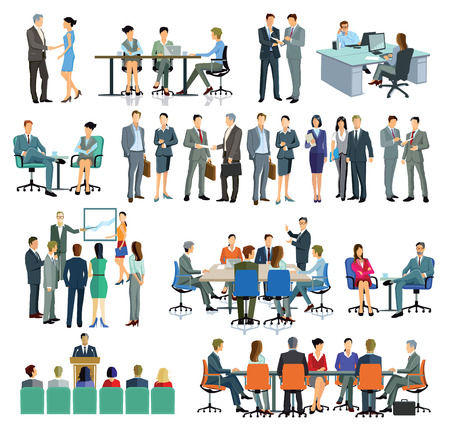 Illustration for Consulting, Training, Office - Royalty Free Image