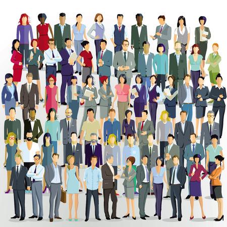 Illustration pour large group of people - image libre de droit