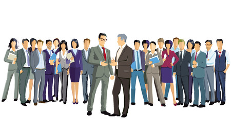 Illustration pour A group of business people are standing together - image libre de droit